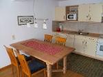 Küche einer Ferienwohnung im Haus Stuff in Olpe
